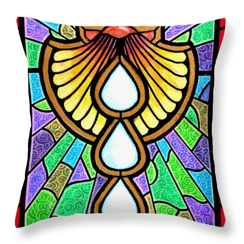 Baptism Throw Pillow featuring the painting Baptism by Jim Harris