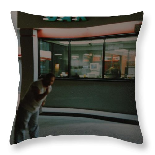 Funny Throw Pillow featuring the photograph Bar F by Rob Hans