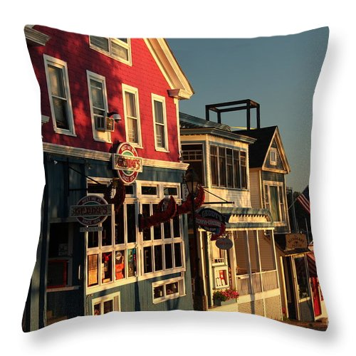 Bar Harbor Throw Pillow featuring the photograph Bar Harbor At Dawn by Diane Greco-Lesser