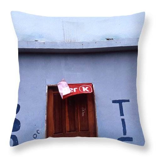 Lencois Throw Pillow featuring the photograph Bar Tico by Patrick Klauss