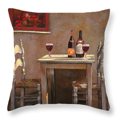 Wine Throw Pillow featuring the painting Barbaresco by Guido Borelli