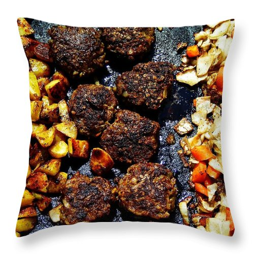 Barbecue Throw Pillow featuring the photograph Barbecue ... by Juergen Weiss