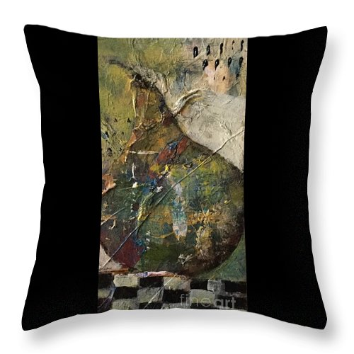 Pear Throw Pillow featuring the painting Barely A Pair 2 by Gail Butters Cohen