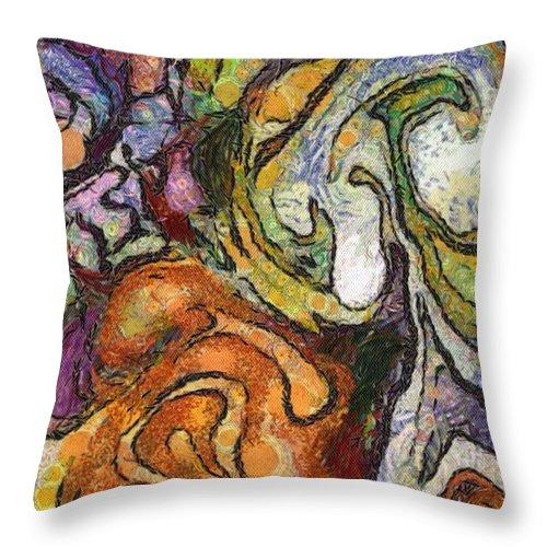Drawing Throw Pillow featuring the digital art Barley by Johanna G