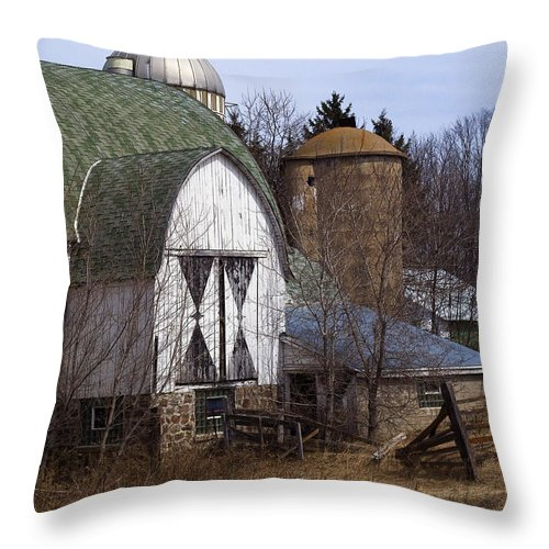 Barn Throw Pillow featuring the photograph Barn On 29 by Tim Nyberg