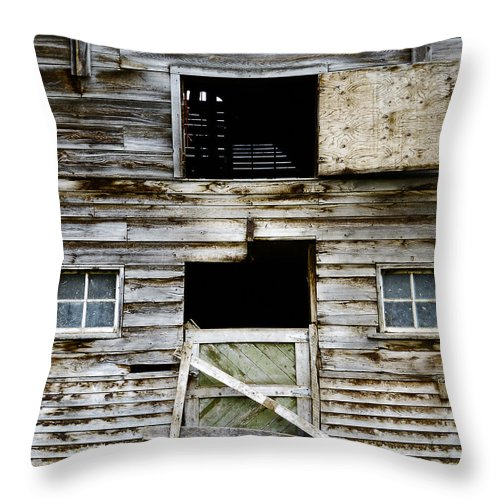 Barn Throw Pillow featuring the photograph Barn Side by Wayne Sherriff
