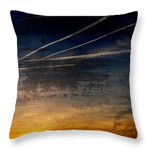 Jersey Shore Throw Pillow featuring the photograph Barnegat Bay Sunset - Jersey Shore by Angie Tirado