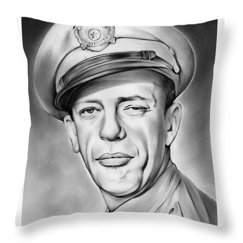 Barney Throw Pillow featuring the drawing Barney by Greg Joens