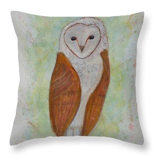 Barnie The Barn Owl Throw Pillow For Sale By Carlene Harris