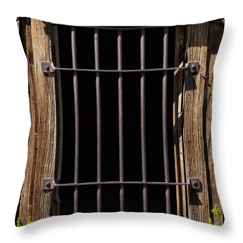 Jail Throw Pillow featuring the photograph Barred by Kelley King