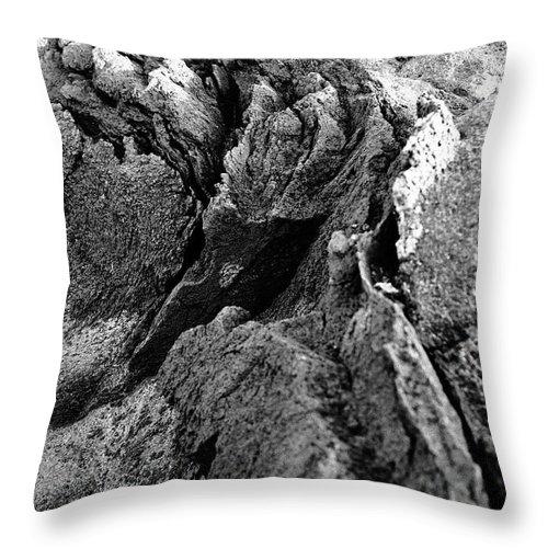 Basalt Throw Pillow featuring the photograph Basalt Textures by Gaspar Avila