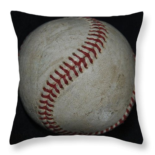 Pop Art Throw Pillow featuring the photograph Baseball by Rob Hans
