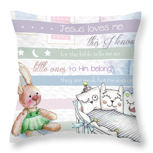 Throw Pillow featuring the digital art Basic Rgb by Claire Tingen