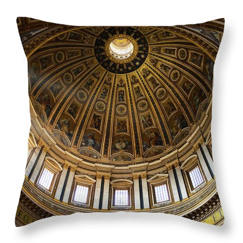 Dome Throw Pillow featuring the photograph Basilica by Stefan Nielsen
