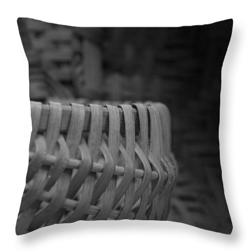 Baskets Throw Pillow featuring the photograph Baskets by Jessica Wakefield