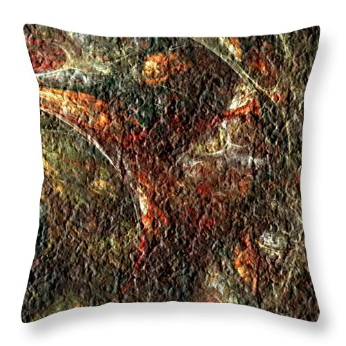 Abstract Throw Pillow featuring the digital art Bat Out Of Hell by Charmaine Zoe