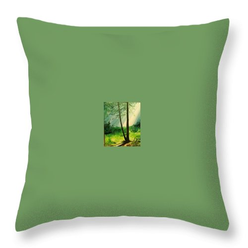 Light Throw Pillow featuring the painting Bathed In Light by Lizzy Forrester