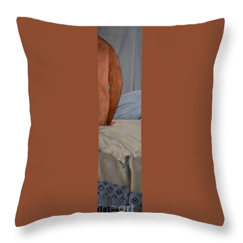 Bather Throw Pillow featuring the painting Bather by Wess Loudenslager