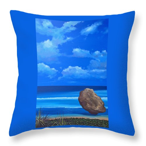 Barbados Throw Pillow featuring the painting Bathsheba by Hunter Jay