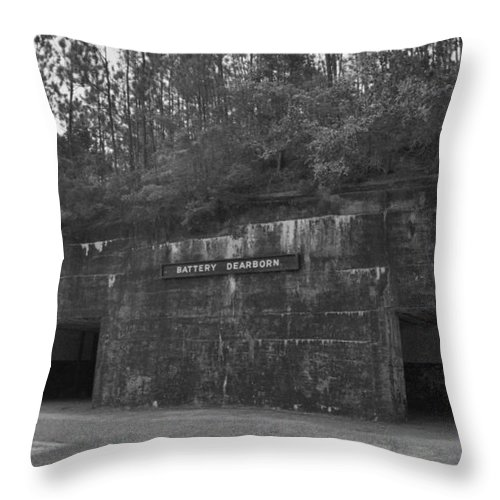 Military Throw Pillow featuring the photograph Battery Dearborn by Richard Rizzo