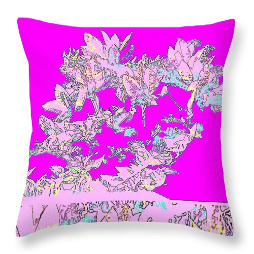 Square Throw Pillow featuring the digital art Battle Of Spratz Memorial by Eikoni Images