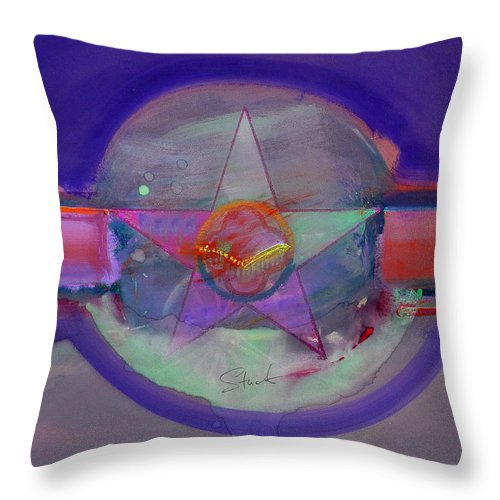 Usaaf Insignia Throw Pillow featuring the painting Battlefield by Charles Stuart