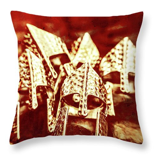 War Throw Pillow featuring the photograph Battlefield Of Lost Empires by Jorgo Photography - Wall Art Gallery