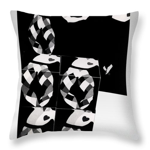 Dance Throw Pillow featuring the photograph Bauhaus Ballet 2 The Cubist Harlequin by Charles Stuart