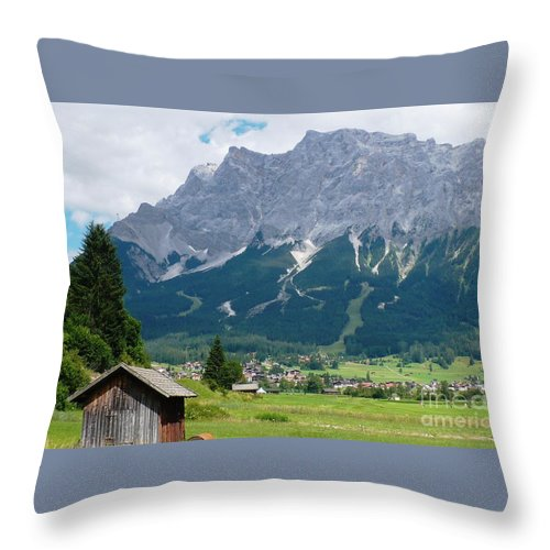 Landscape Throw Pillow featuring the photograph Bavarian Alps Landscape by Carol Groenen