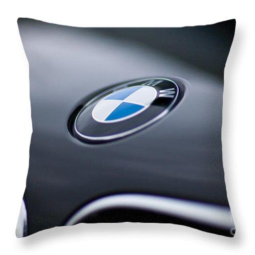 Bayerische Motoren Werke Throw Pillow featuring the photograph Bayerische Motoren Werke by Mike Reid