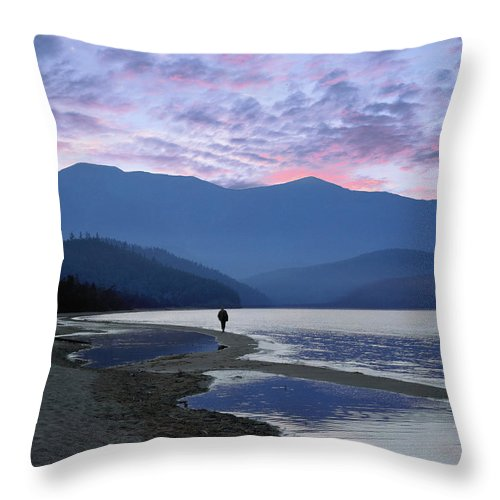 Landscape Throw Pillow featuring the photograph Baykal Lake by Vladimir Kholostykh