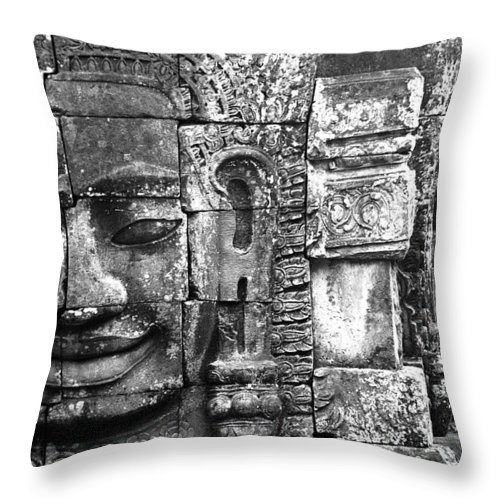 Bayon Temple Throw Pillow featuring the photograph Bayon IIi by Patrick Klauss