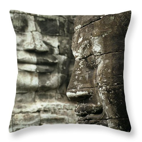 Bayon Throw Pillow featuring the photograph Bayonii by Patrick Klauss