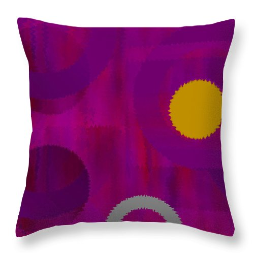 Abstract Throw Pillow featuring the digital art Be Happy II by Ruth Palmer