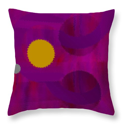 Abstract Throw Pillow featuring the digital art Be Happy by Ruth Palmer