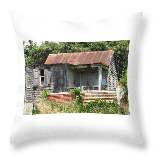 House Throw Pillow featuring the photograph Be It Ever So Humble by Ian MacDonald