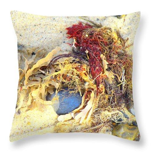 Beach Throw Pillow featuring the photograph Beach Art by Susan Baker