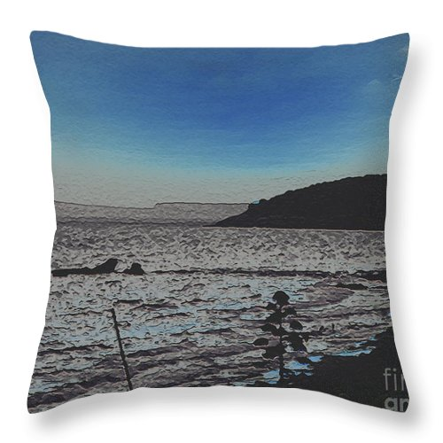 Beach Throw Pillow featuring the photograph Beach At Twilight by Dee Flouton