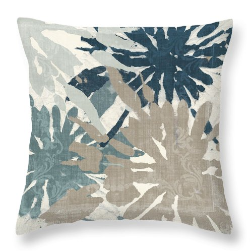 Ikat Throw Pillow featuring the painting Beach Curry Iv Ikat by Mindy Sommers