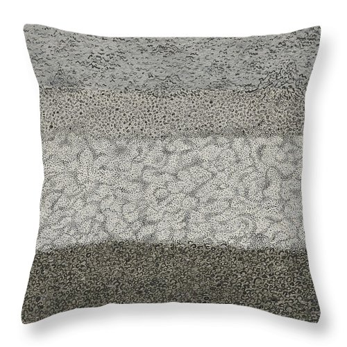 Landscape Throw Pillow featuring the drawing Beach by Ernestina Casas Carvajal
