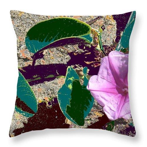 Beach Throw Pillow featuring the photograph Beach Flower by Ian MacDonald