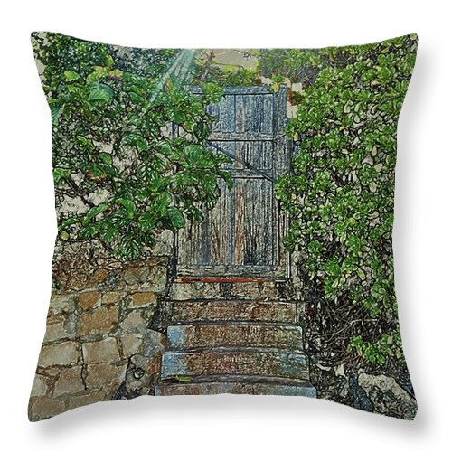 Gate Throw Pillow featuring the photograph Beach Gate In The Morning by Craig Wood