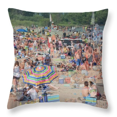 Beach Throw Pillow featuring the photograph Beach Ghosts by Bill Ardern
