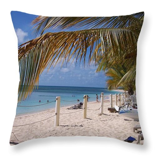 Beach Throw Pillow featuring the photograph Beach Grand Turk by Debbi Granruth