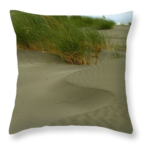 Beach Throw Pillow featuring the photograph Beach Grass by Jessica Wakefield