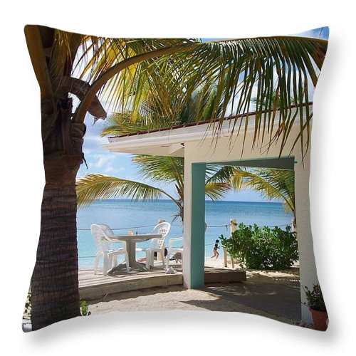 Beach Throw Pillow featuring the photograph Beach In Grand Turk by Debbi Granruth