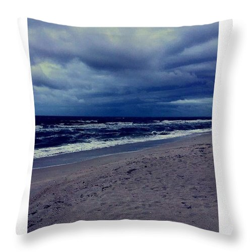 Throw Pillow featuring the photograph Beach by Kristina Lebron