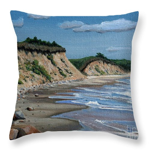 Beach Throw Pillow featuring the painting Beach by Paul Walsh