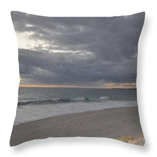 Beach Throw Pillow featuring the painting Beach by Richard Benson