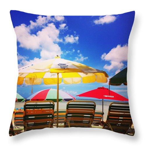 Throw Pillow featuring the photograph Beach by Saori Fujii